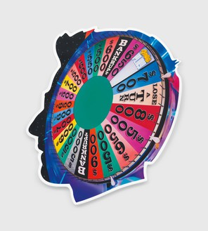 Alex Israel, Self-Portrait (Wheel of Fortune), 2017 Acrylic and Bondo on fiberglass, 96 × 84 inches (243.8 × 213.4 cm)© Alex Israel