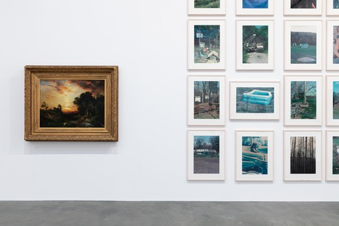 Installation view Artwork, left to right: Thomas Moran, © Richard Prince. Photo: Lucy Dawkins