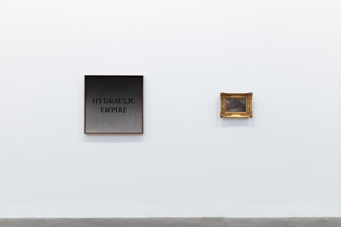 Installation view Artwork, left to right: © Ed Ruscha, Thomas Cole. Photo: Lucy Dawkins