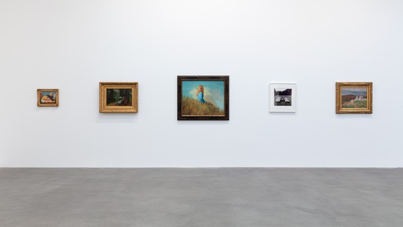 Installation view Artwork, left to right: © John Currin, Winslow Homer, © John Currin, © The Estate of Diane Arbus, Joseph DeCamp. Photo: Lucy Dawkins