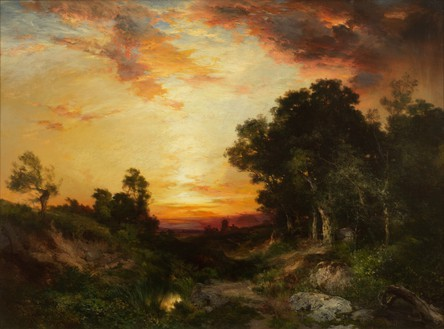 Thomas Moran, Sunset, Amagansett, 1905 Oil on canvas, 30 × 40 inches (76.2 × 101.6 cm)Photo: Rob McKeever