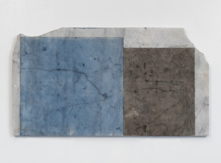 Brice Marden, Years 3, 2011 Oil on marble, 17 ⅜ × 31 ½ × ⅞ inches (44.1 × 80 × 2.2 cm)© 2020 Brice Marden/Artists Rights Society (ARS), New York. Photo: Rob McKeever