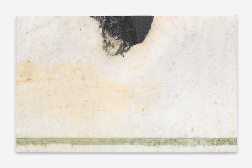 Brice Marden, Helen's Immediately, 2011 Oil on marble, 19 ½ × 31 ½ × ⅞ inches (49.5 × 80 × 2.1 cm)© 2020 Brice Marden/Artists Rights Society (ARS), New York. Photo: Rob McKeever