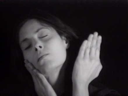 Hannah Wilke, Gestures, 1974 (still) Video, black and white, sound, 33 min. 1 sec., Hannah Wilke Collection & Archive, Los Angeles© 2020 Marsie, Emanuelle, Damon, and Andrew Scharlatt/Licensed by VAGA at Artists Rights Society (ARS), New York.Courtesy Electronic Arts Intermix (EAI), New York; Alison Jacques Gallery, London; Marc Selwyn Fine Art, Los Angeles