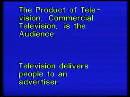 Richard Serra, Television Delivers People, 1973 Video, color, sound, 6 min. 21 sec., Circulating Film and Video Library, Museum of Modern Art, New York© 2020 Richard Serra/Artists Rights Society (ARS), New York