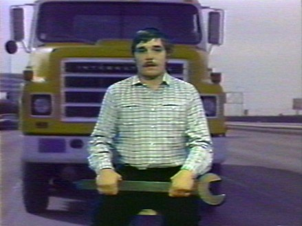 Chris Burden, Big Wrench, 1980 (still) Video of live broadcast on KTSF-TV, San Francisco, on November 5, 1979; color; sound; 17 min. 29 sec.Produced by La Mamelle© 2020 Chris Burden/Licensed by the Chris Burden Estate and Artists Rights Society (ARS), New York