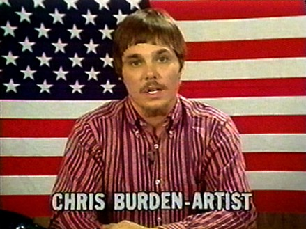 Chris Burden, The TV Commercials 1973–1977, 1973–77/2000 (still) Video, color, sound, 3 min. 46 sec.Edited by Peter Kirby, Media Art Services© 2020 Chris Burden/Licensed by the Chris Burden Estate and Artists Rights Society (ARS), New York. Courtesy Electronic Arts Intermix (EAI), New York