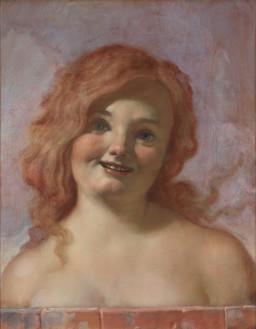 John Currin, Squeaky, 2019 Oil on canvas, 23 × 18 ⅛ inches (58.4 × 46 cm)© John Currin. Photo: Rob McKeever