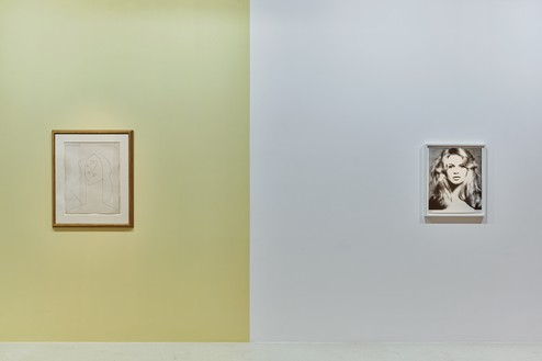 Installation view Artwork, left to right: © Succession Picasso 2020, © 2020 The Richard Avedon Foundation. Photo: Thomas Lannes