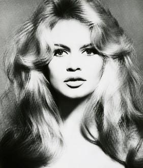 Richard Avedon, Brigitte Bardot, hair by Alexandre, Paris, January 1959, 1959 Gelatin silver print, 24 × 20 inches (61 × 50.8 cm), edition of 35© 2020 The Richard Avedon Foundation