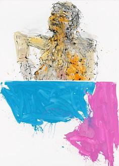 Georg Baselitz, In London nicht, der Arm aus Wien, der Kopf aus Berlin (Not in London, the Arm from Vienna, the Head from Berlin), 2011 Oil on canvas, 118 ⅛ × 84 ⅝ inches (300 × 214.9 cm)© Georg Baselitz. Photo: Jochen Littkemann