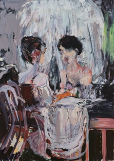 Cecily Brown, Untitled (Vanity), 2005 Oil on linen, 77 × 55 inches (195.6 × 139.7 cm)© Cecily Brown. Photo: Thomas Lannes