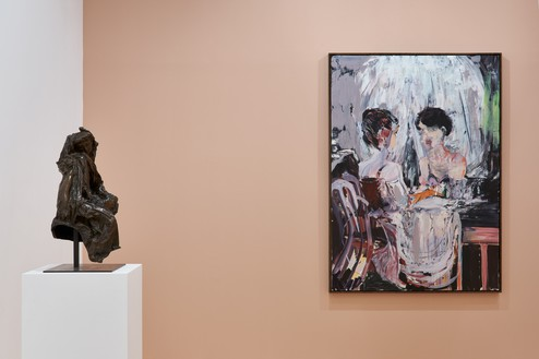 Installation view Artwork, © Musée Rodin, © Cecily Brown. Photo: Thomas Lannes