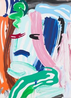Roy Lichtenstein, Green Head, 1986 Oil and magna on canvas, 52 × 38 inches (132.1 × 96.5 cm)© Estate of Roy Lichtenstein. Photo: Rob McKeever