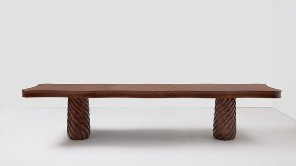 Curzio Malaparte, Table, 1941/2020 Walnut and pine, 31 ⅞ × 149 ⅝ × 34 ⅝ inches (81 × 380 × 88 cm), edition of 12 + 2 AP© Malaparte Design. Photo: Prudence Cuming Associates