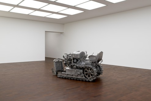 Installation view with Charles Ray, Tractor (2004) Artwork © Charles Ray, courtesy Matthew Marks Gallery