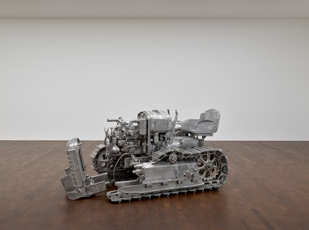 Charles Ray, Tractor, 2003–04 Aluminum, 62 ¼ × 109 ½ × 53 ¾ inches (158.1 × 278.1 × 136.5 cm), edition of 3 + 1 APArtwork © Charles Ray, courtesy Matthew Marks Gallery
