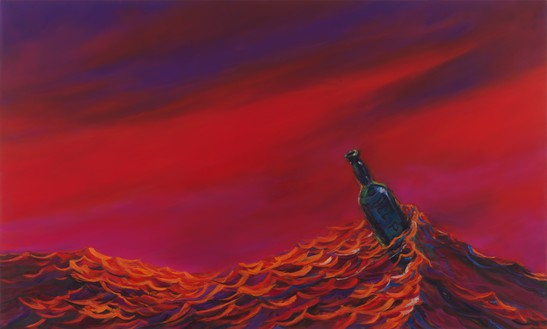 Dan Colen, HELP, 2019–20 Oil on canvas, 28 × 46 ½ inches (71.1 × 118.1 cm)© Dan Colen. Photo: Rob McKeever