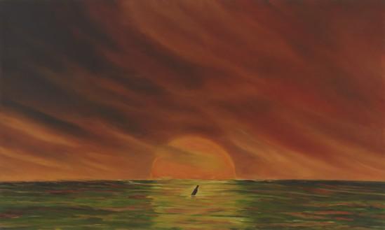 Dan Colen, HELP, 2019–20 Oil on canvas, 18 × 30 inches (45.7 × 76.2 cm)© Dan Colen. Photo: Rob McKeever