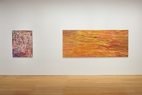 Installation view Artwork © Emily Kame Kngwarreye/Copyright Agency. Licensed by Artists Rights Society (ARS), New York, 2020