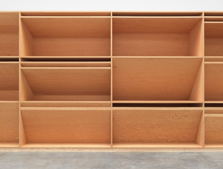 Donald Judd, untitled, 1980 (detail) Plywood, 12 × 80 × 4 feet (3.7 × 24.4 × 1.2 m)© 2020 Judd Foundation/Artists Rights Society (ARS), New York. Photo: Rob McKeever