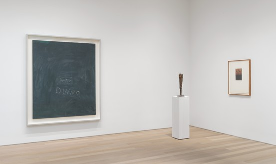 Installation view Artwork, left to right: © Cy Twombly Foundation; © 2020 Brice Marden/Artists Rights Society (ARS), New York. Photo: Rob McKeever