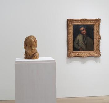Installation view Artwork, left to right: Medardo Rosso; Paul Cezanne. Photo: Rob McKeever