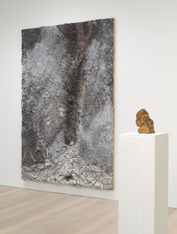 Installation view Artwork, left to right: © Anselm Kiefer; Medardo Rosso. Photo: Rob McKeever