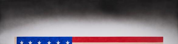 Ed Ruscha, Top of Flag, 2020 Acrylic on canvas, 24 × 96 inches (61 × 243.8 cm)© Ed Ruscha. Photo: Paul Ruscha