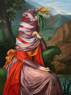Ewa Juszkiewicz, Untitled (after Elisabeth Vigée Le Brun), 2020 Oil on canvas, 63 × 47 ¼ inches (160 × 120 cm)© Ewa Juszkiewicz