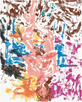Georg Baselitz, Ist dem etwas entgangen? (Did he miss the moment?), 2019 Oil on canvas, 98 ½ × 78 ¾ inches (250 × 200 cm)© Georg Baselitz. Photo: Jochen Littkemann