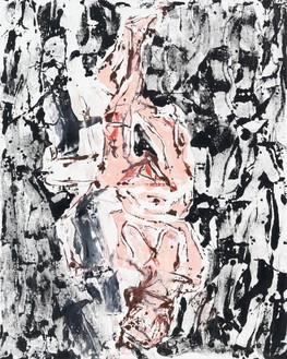 Georg Baselitz, Holiday on Ice, 2019 Oil on canvas, 98 ½ × 78 ¾ inches (250 × 200 cm)© Georg Baselitz. Photo: Jochen Littkemann