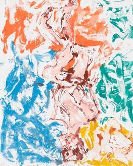 Georg Baselitz, Eisbahn (Ice Rink), 2019 Oil on canvas, 98 ½ × 78 ¾ inches (250 × 200 cm)© Georg Baselitz. Photo: Jochen Littkemann