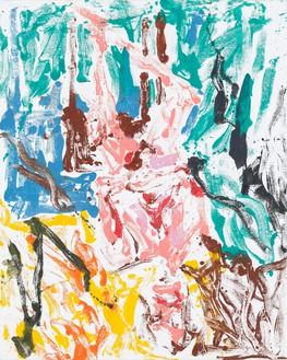 Georg Baselitz, German Kraut, paint Roy and Bill, 2019 Oil on canvas, 98 ½ × 78 ¾ inches (250 × 200 cm)© Georg Baselitz. Photo: Jochen Littkemann