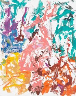 Georg Baselitz, War das schon einmal da? (Has that already been done?), 2019 Oil on canvas, 98 ½ × 78 ¾ inches (250 × 200 cm)© Georg Baselitz. Photo: Jochen Littkemann
