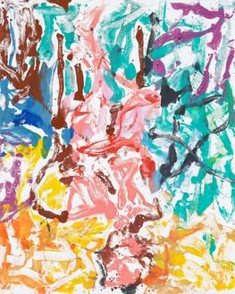 Georg Baselitz, Noch etwas aus alter Zeit (Another thing from the olden days), 2019 Oil on canvas, 98 ½ × 78 ¾ inches (250 × 200 cm)© Georg Baselitz. Photo: Jochen Littkemann