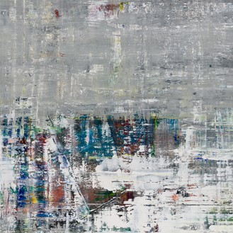 Gerhard Richter, Cage 3, 2006 (detail) Oil on canvas, 114 ¼ × 114 ¼ inches (290 × 290 cm)© Gerhard Richter 2020 (05102020)