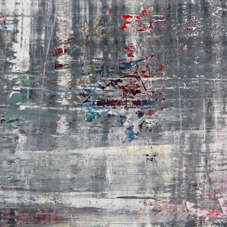 Gerhard Richter, Cage 5, 2006 (detail) Oil on canvas, 118 ⅛ × 118 ⅛ inches (300 × 300 cm)© Gerhard Richter 2020 (05102020)