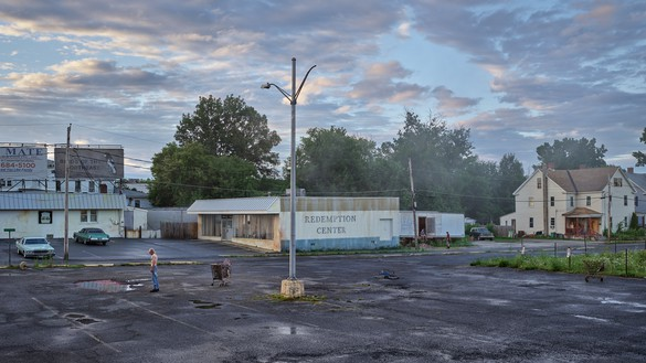 Gregory Crewdson, Redemption Center, 2018–19 Digital pigment print, image: 50 × 88 ⅞ inches (127 × 225.7 cm), framed: 57 × 96 × 2 inches (144.8 × 243.8 × 5.1 cm), edition of 4 + 2 AP© Gregory Crewdson