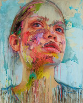 Jenny Saville, Arcadia, 2020 Acrylic and oil on linen, 78 ¾ × 63 inches (200 × 160 cm)© Jenny Saville. Photo: Prudence Cuming Associates