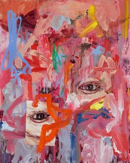 Jenny Saville, Cascade, 2020 Oil on linen, 78 ¾ × 63 inches (200 × 160 cm)© Jenny Saville. Photo: Prudence Cuming Associates