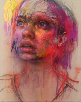 Jenny Saville, Prism, 2020 Pastel and charcoal on canvas, 78 ¾ × 63 inches (200 × 160 cm)© Jenny Saville. Photo: Prudence Cuming Associates