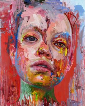 Jenny Saville's painting Rupture