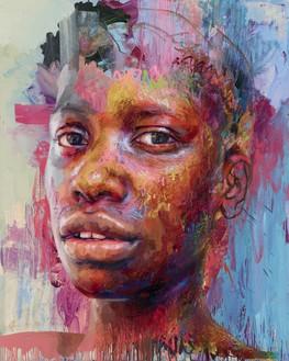 Jenny Saville, Chasah, 2020 Oil on linen, 78 ¾ × 63 inches (200 × 160 cm)© Jenny Saville. Photo: Prudence Cuming Associates