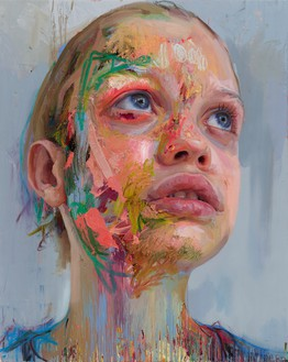 Jenny Saville, Requiem (Akhmatova), 2020 Acrylic and oil on linen, 78 ¾ × 63 inches (200 × 160 cm)© Jenny Saville. Photo: Prudence Cuming Associates