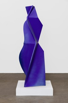 John Mason, Figure, Dark Blue, 2015 Glazed ceramic, 62 ½ × 20 × 24 inches (158.8 × 50.8 × 61 cm)© 2016 Estate of John Mason. All rights reserved. Photo: Jeff McLane