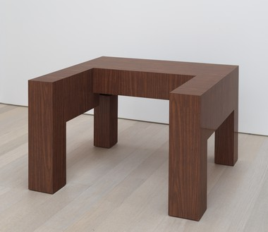 Richard Artschwager, Walker, 1964 Formica on wood, 26 ⅛ × 38 ¼ × 35 ⅛ inches (66 × 97 × 89 cm)© 2020 Richard Artschwager/Artists Rights Society (ARS), New York. Photo: Rob McKeever