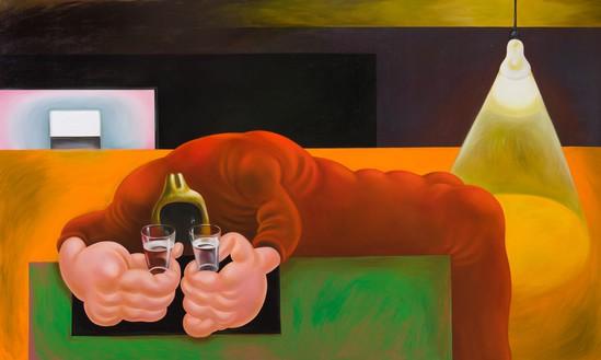 Louise Bonnet, Red Wailer, 2020 Oil on linen, 72 × 120 inches (182.9 × 304.8 cm)© Louise Bonnet. Photo: Jeff McLane