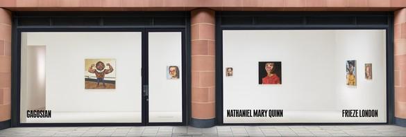 Installation view Artwork © Nathaniel Mary Quinn. Photo: Prudence Cummings Associates