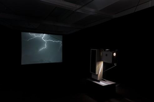 Installation view with Piero Golia, Still Life (Lightning) (2019) Artwork © Piero Golia. Photo: Lucy Dawkins